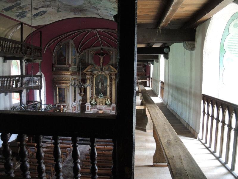 Mendionde, église saint-Cyprien, intérieur, troisième palier (64)