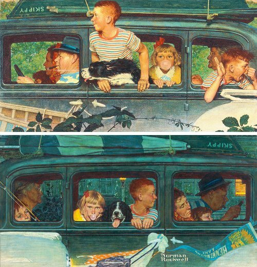 Going And Coming - art by Norman Rockwell