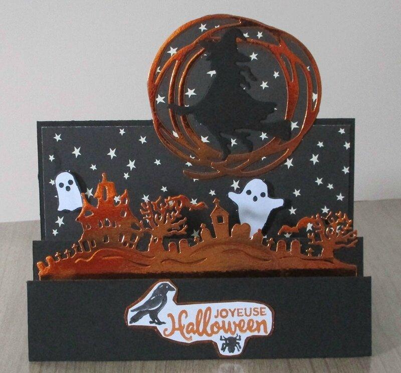 carte accordéon halloween