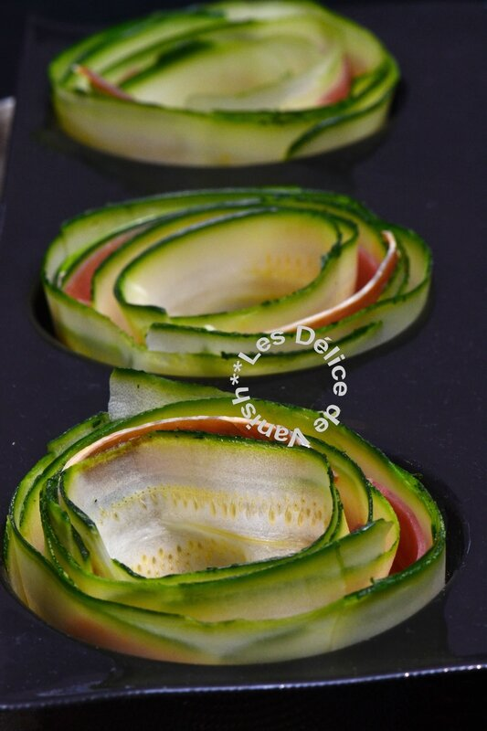 courgettes, moule grands ronds, demarle, flexipan, tourbillon, légumes
