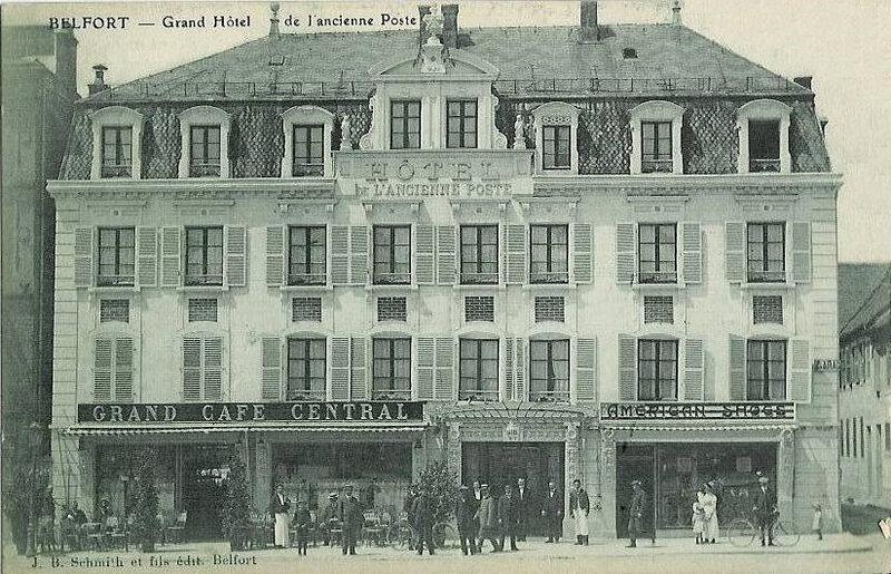 CPA Belfort Hôtel Ancienne Poste
