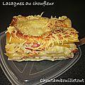 Lasagnes au choufleur