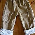 Pantalon à taille elastiquée