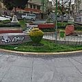 Rond-point à la paz (bolivie)