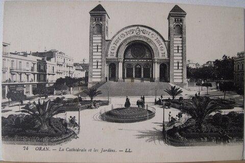Oran - la cathédrale et les jardins