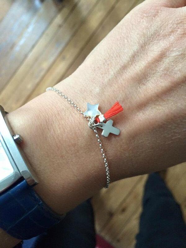 Bracelet Catho branchée (corail)
