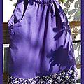 top bretelles violet