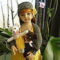 Un ourson amigurumi à crocheter (tuto libre)...et savannah en tenue