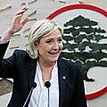 La réussite de la visite de marine le pen au liban irrite les médias français…
