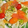 Salade de fenouil orange et truite fumée