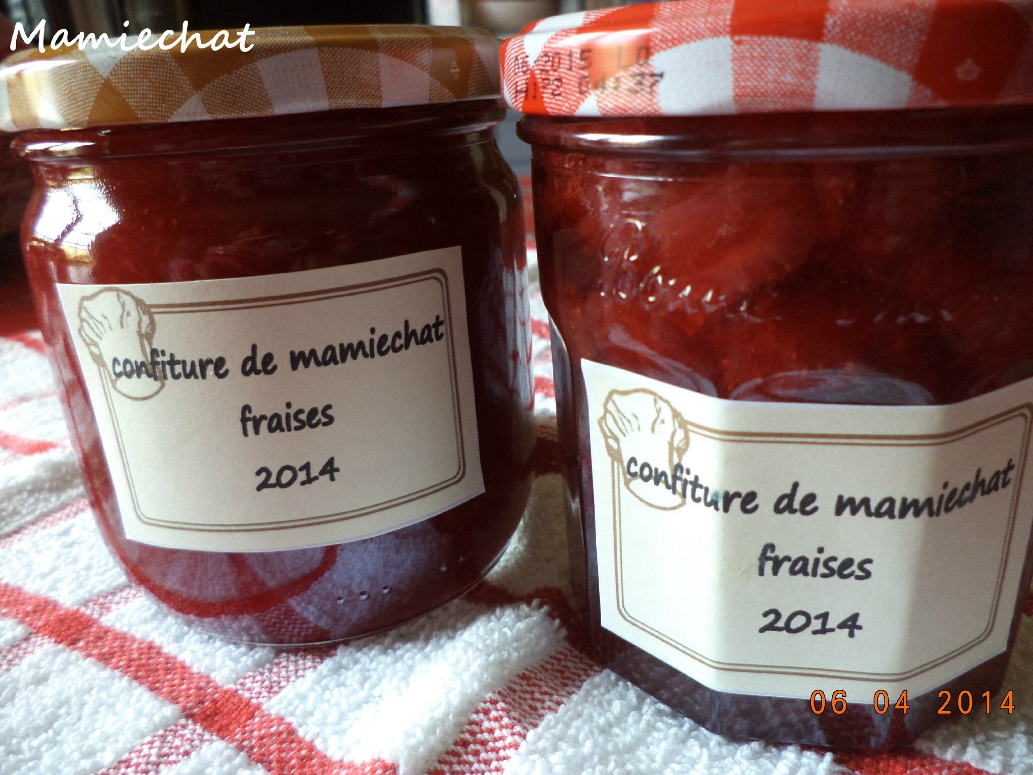 confiture de fraise chantal76