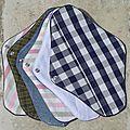 coudre des serviettes périodiques lavables
