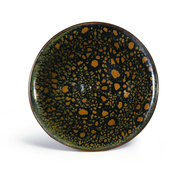 An exceptional Cizhou black-glazed and russet-splashed bowl, Northern Song dynasty (top)