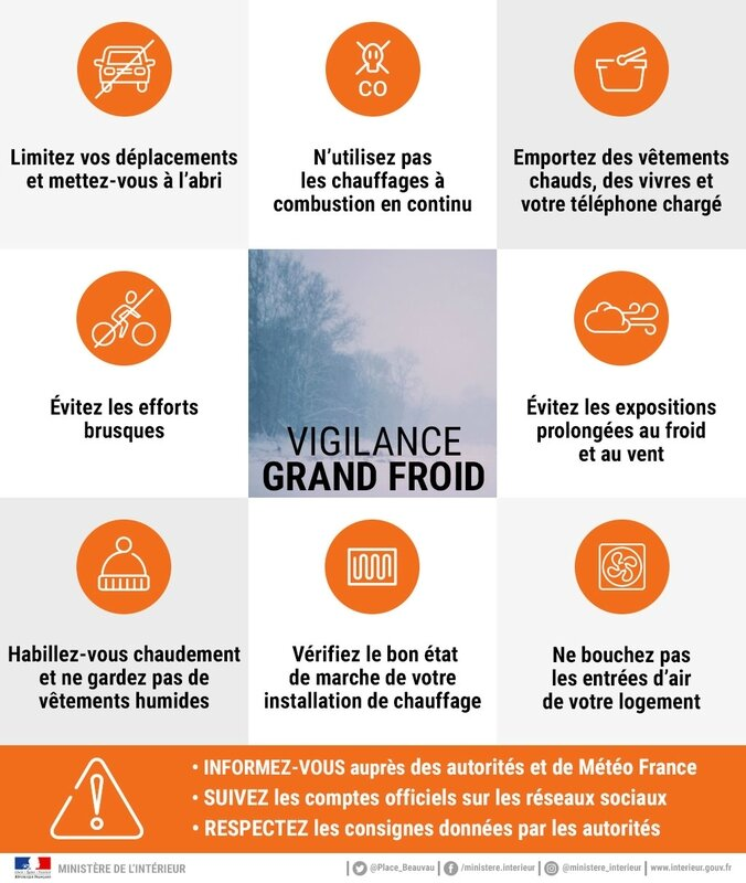 vigilance Grand froid orange février 2018 logo affiche
