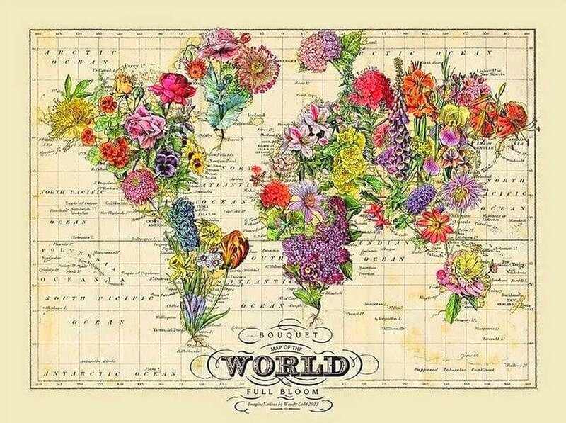 maps of flowers
