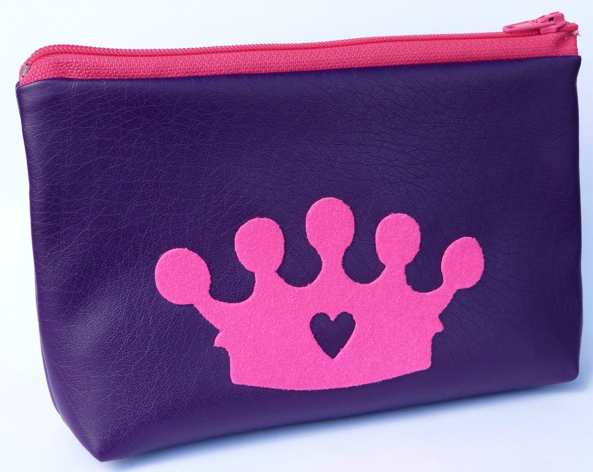 40. simili cuir violet et fuchsia - couronne flex velours rose