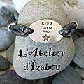 Tout est dit dans le message de ce bracelet cordon élastique gris métallisé et ses perles coeur ! bonne journée !