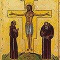icône de Saint François et Saint Pio, les 2 stigmatisés Francisc