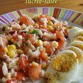 Salade fraîcheur sucrée-salée