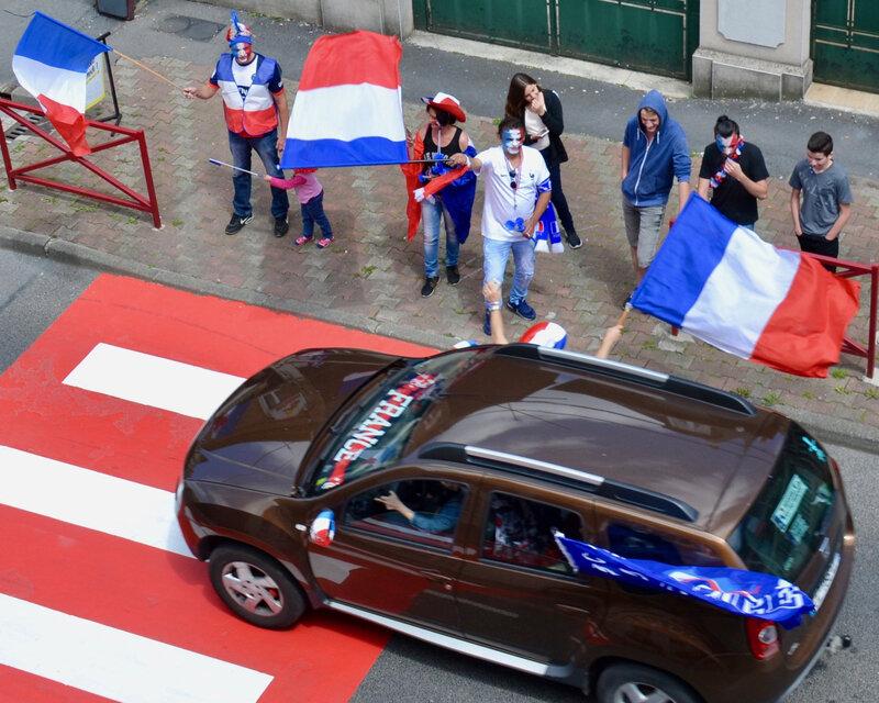 COUPE DU MONDE 2018 FRANCE AUSTRALIE supporters Hirson