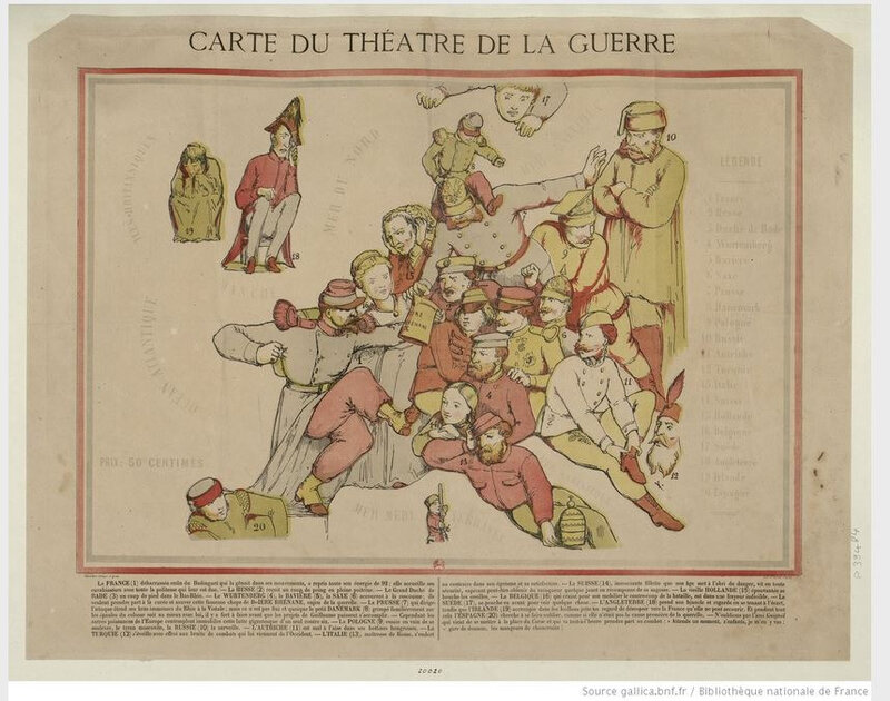carte de la guerre de 1870 BNF