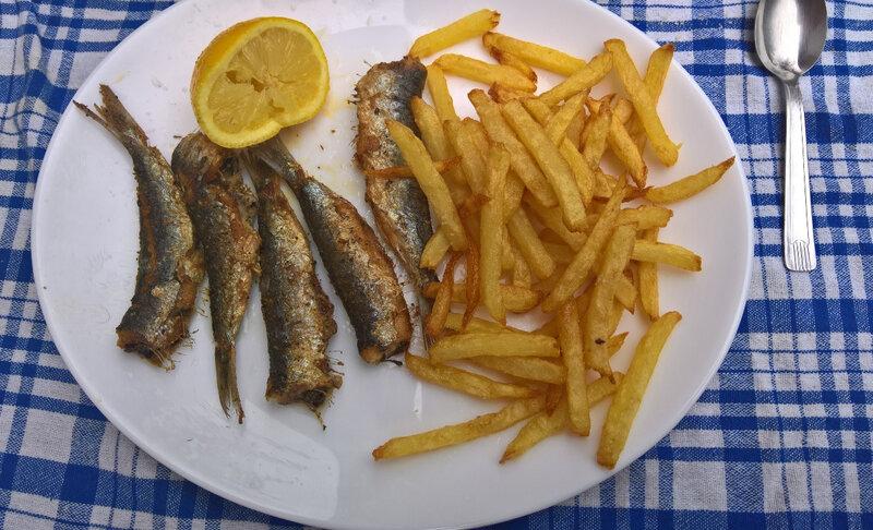 Tes sardines farinées grillées à l'huile d'olive
