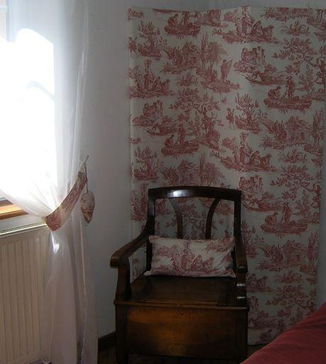 Rideaux Toile De Jouy paravent et embrasses de rideaux en toile de jouy - toile de jouy
