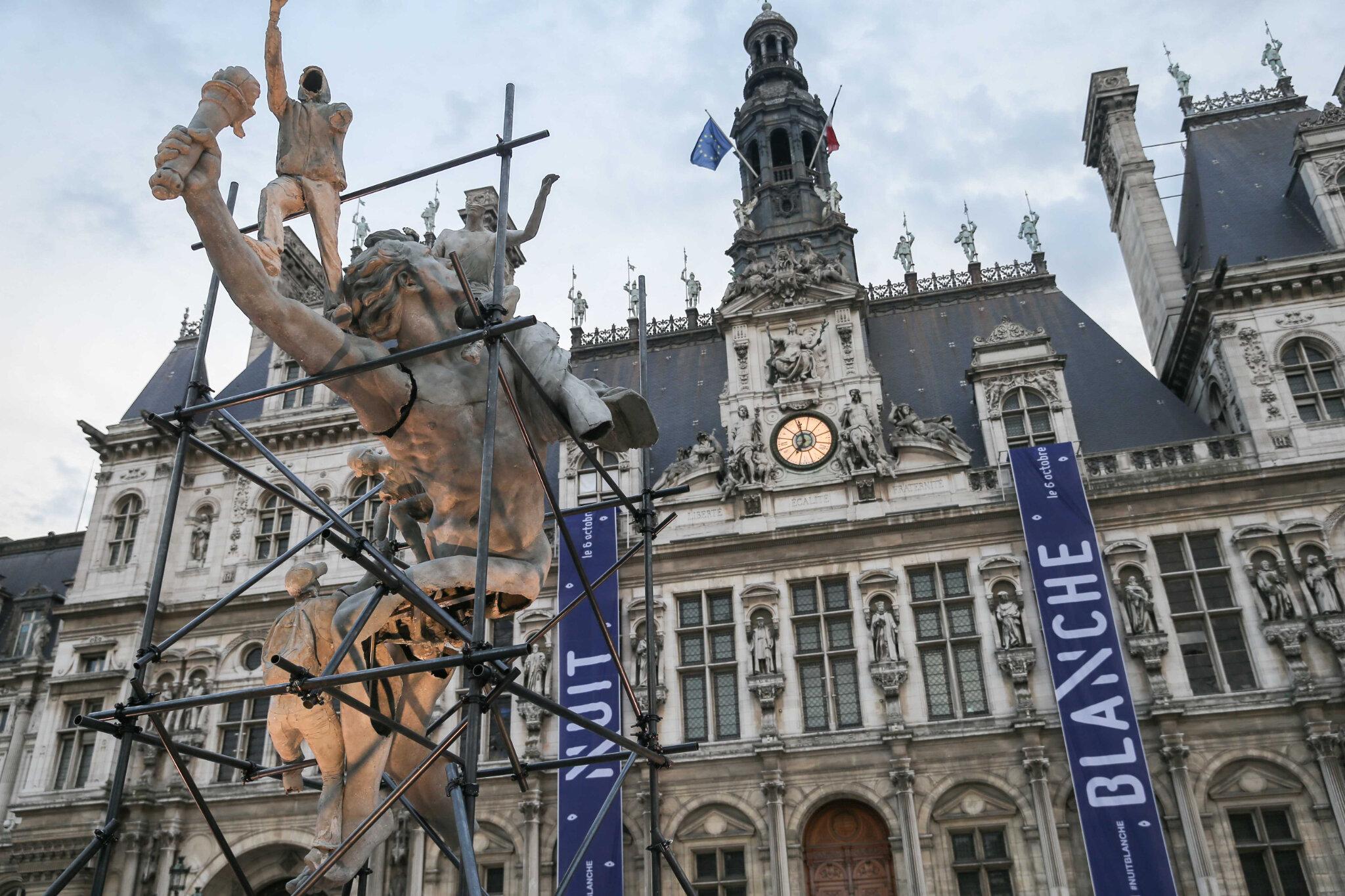 Nuit Blanche : Anne Hidalgo lance l'édition 2018 avec un fond de contestation. © Michel Stoupak. Sam 06.10.2018, 18h00m16.