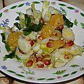 Salade d'endives aux oranges à jus et grenade