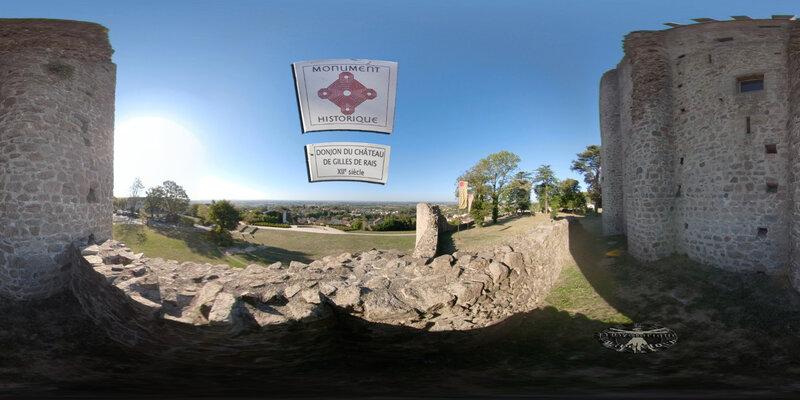 Visite Virtuelle Historique - château de Pouzauges - Catherine de Thouars et Gilles de Rais