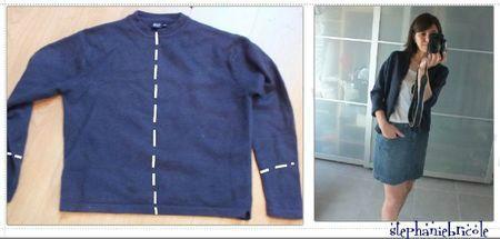 idée couture récup 3, transformer un pull en gilet