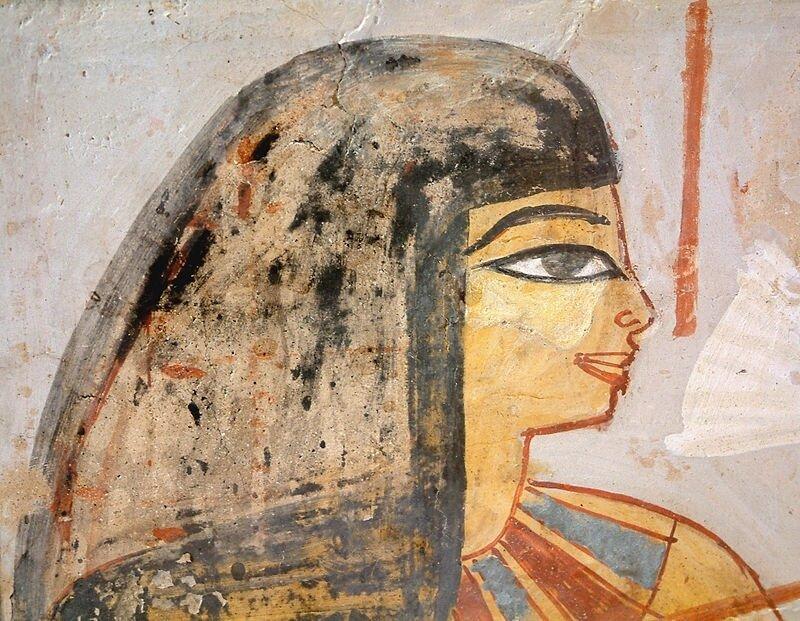 Egyptienne aux yeux fardés