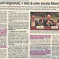 26 juin 2014: séance plénière d'un conseil regional en normandie