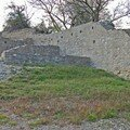 Les restes d'un mur