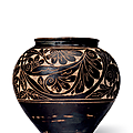 A cizhou sgraffiato globular jar, jin-yuan dynasty, 13th-14th century