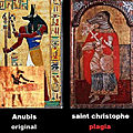 Origine egyptienne du saint chretien catholique (saint christophe) : anubis (mfumu a lufua) !