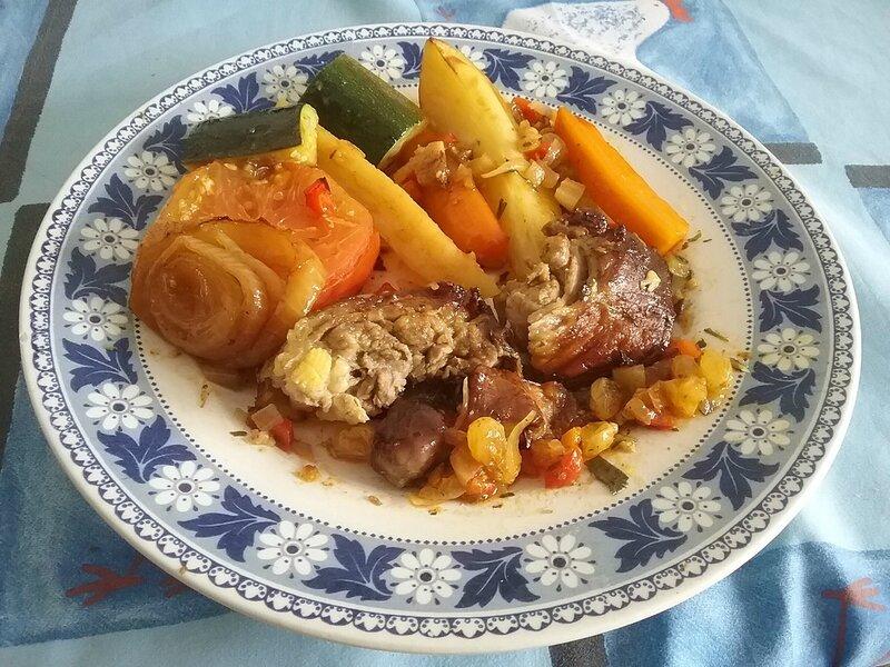 Collier d'agneau et légumes au four (2)