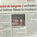 Fete de la musique: paul selmer... (article du ml)