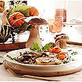 Viande roulée alsacienne aux champignons des bois et à la courge butternut...avec sa petite sauce forestière!