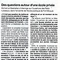 Rentree au fort bloque, revue de presse