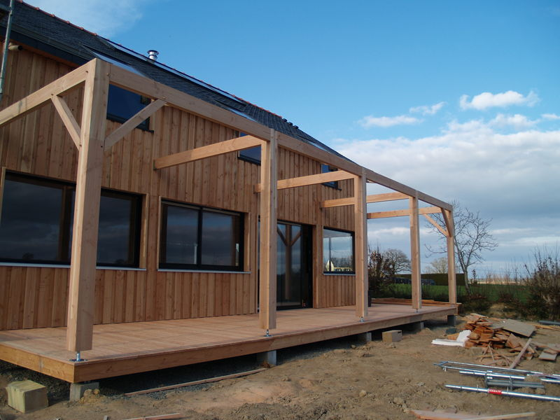 pergola construction de notre maison bois. Black Bedroom Furniture Sets. Home Design Ideas