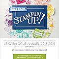 Le nouveau catalogue stampin up est là !!!