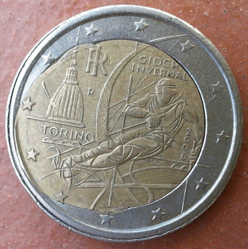 2 EURO 2006 OLIMPIADI TORINO 104€