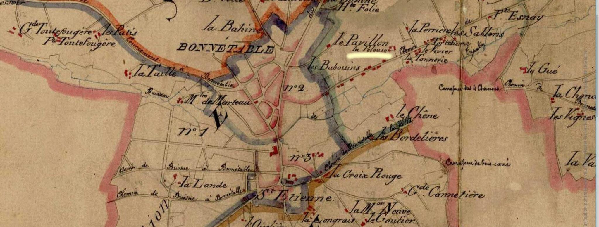 Le 27 septembre 1789 à Bonnétable : choix du lieu des foires.