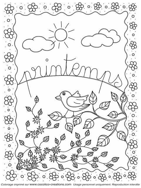 Coloriage Avril Printemps.Coloriages Printemps Assistante Maternelle Argenteuil Orgemont