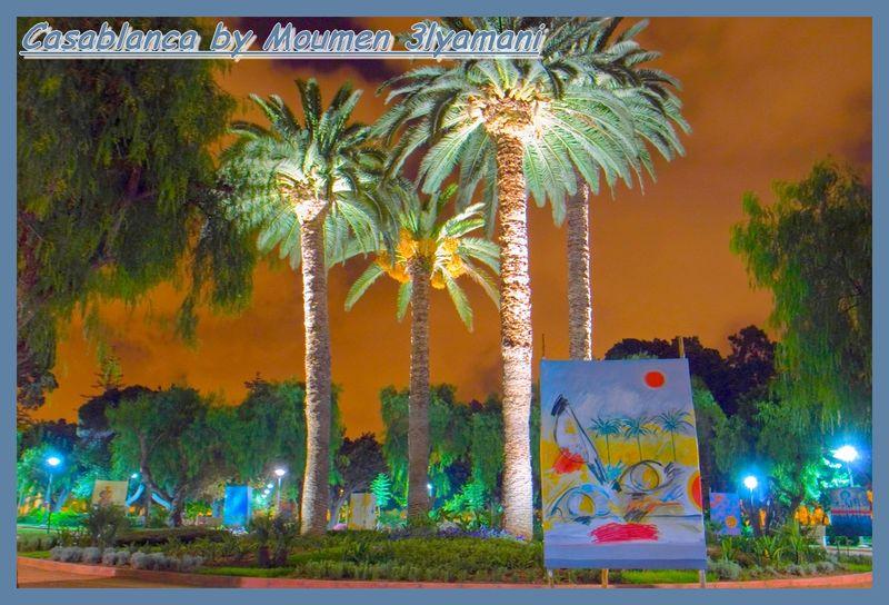 Peinture au Park ISESCO lmardoukh