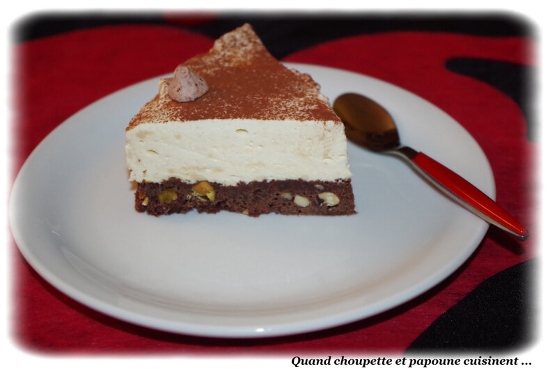 mousse de Bailey's sur brownies au chocota-8005