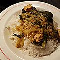 Curry de poulet aux épinards à la mode philippine