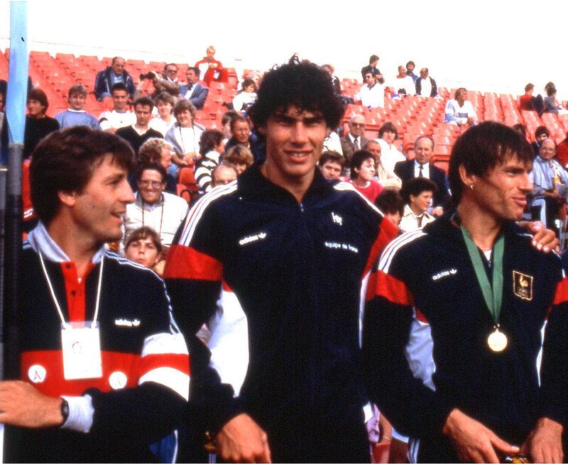 JPCézard, coach des KH 1985 avec Boccara- Boucherit Champions du Monde K2H1000