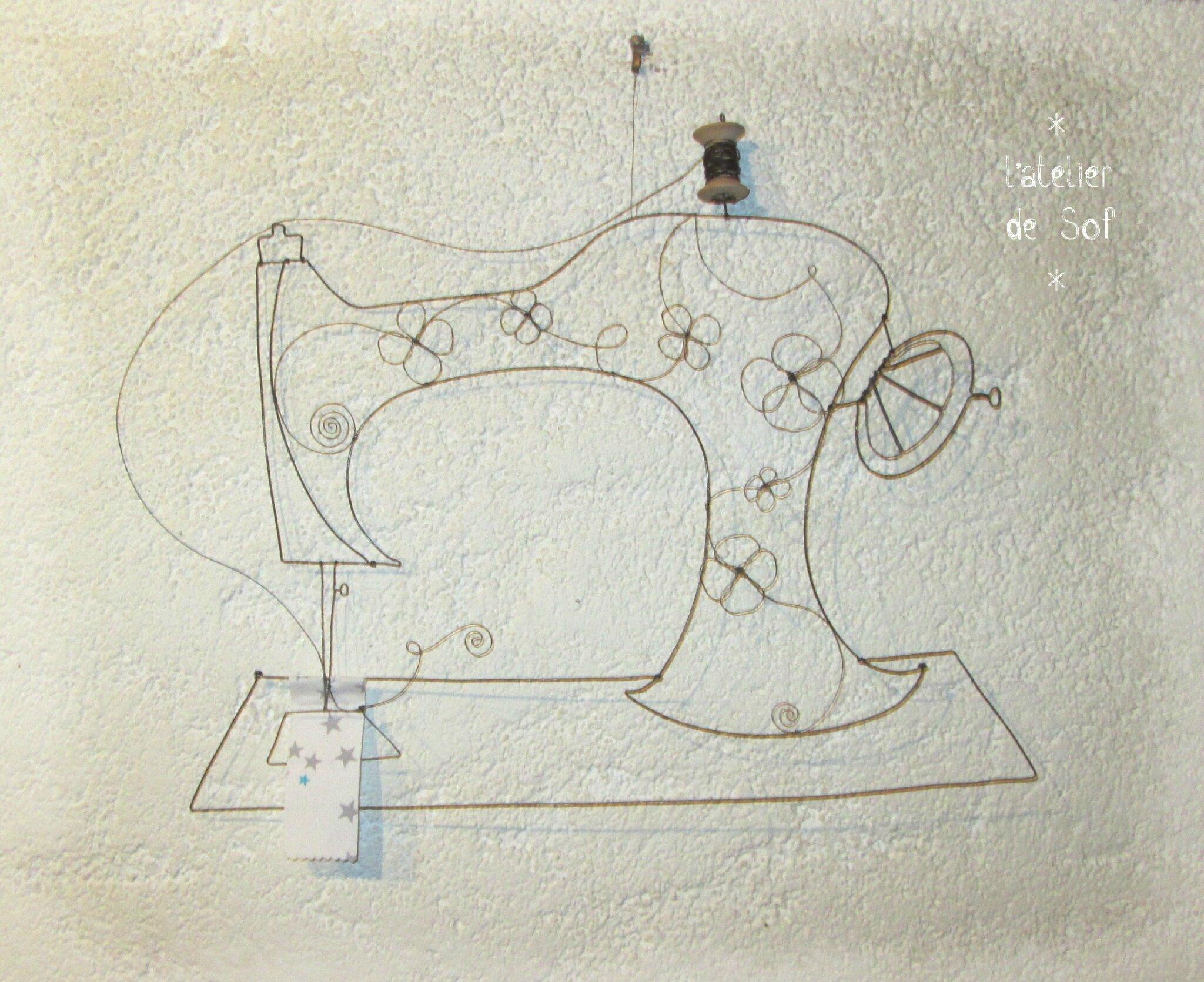 machine à coudre ancienne fil de fer
